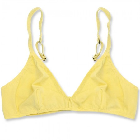 NICO Organic Cotton Triangle Bra - Lemon