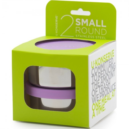 U Konserve Small Round Containers 2pk Lavender
