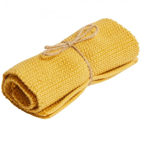 Brightwood Organic Cotton Face Washer All Purpose Cloth - Mustard