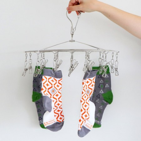 Stainless Steel Sock Hanger 304S Grade with 18 Pegs