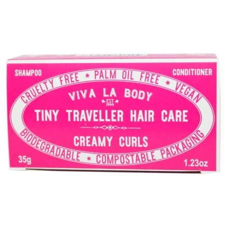 Viva La Body Tiny Traveller Hair Care Bars 35g - Creamy Curls
