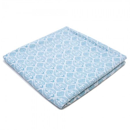 Organic Nights 100% Organic Cotton Muslin Swaddle- Blue Tropics