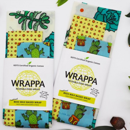 Wrappa Beeswax Wraps Standard 3 Pack