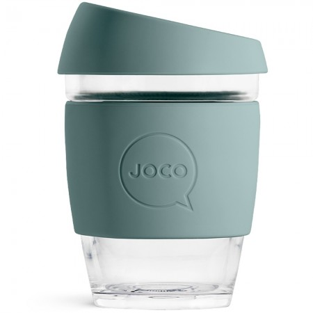 JOCO Medium Glass Coffee Cup 354ml 12oz - Bluestone