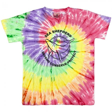 Sea Shepherd Classic Youth Tie Dye Tee - Rainbow