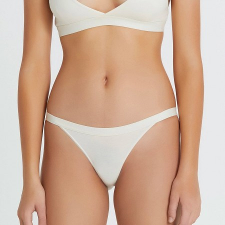 Hand Organic Cotton Bikini Brief - Natural