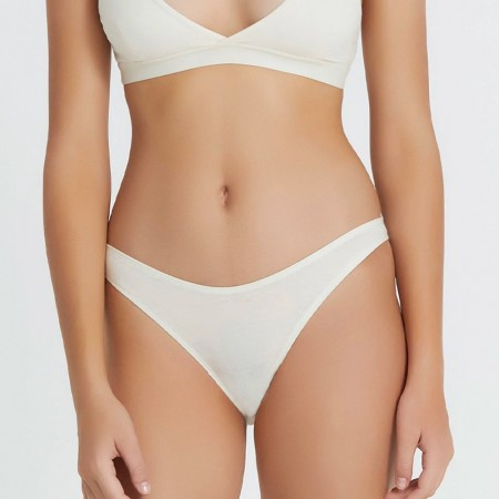 Hand Organic Cotton High Cut Brief - Natural
