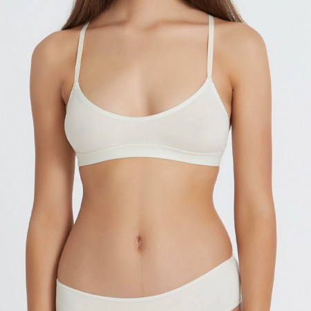 Hand Organic Cotton Bralette - Natural