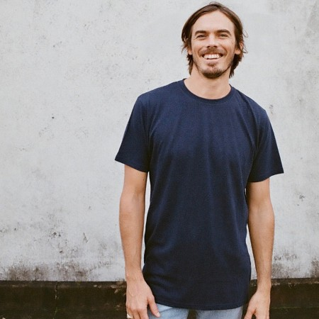 Hemp Clothing Australia Mens Classic Tee - Navy