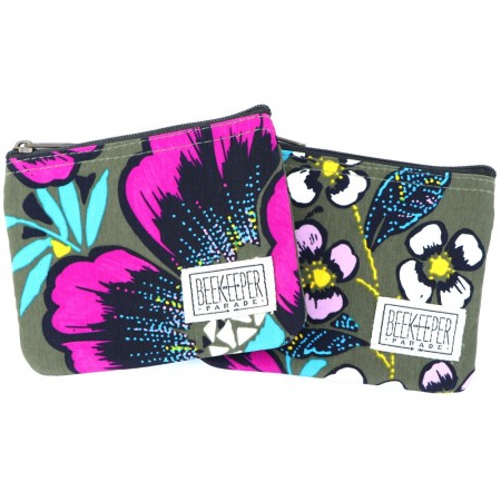 Beekeeper Parade Coin Purse - Purple Blue Floral