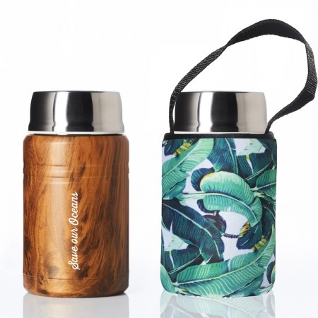BBBYO 500ml Foodie with Cover - Banana Leaf