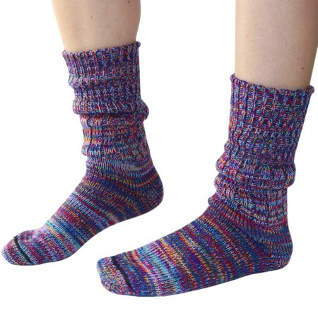 Mongrel Socks Pure Merino Wool Socks - Multi Pink
