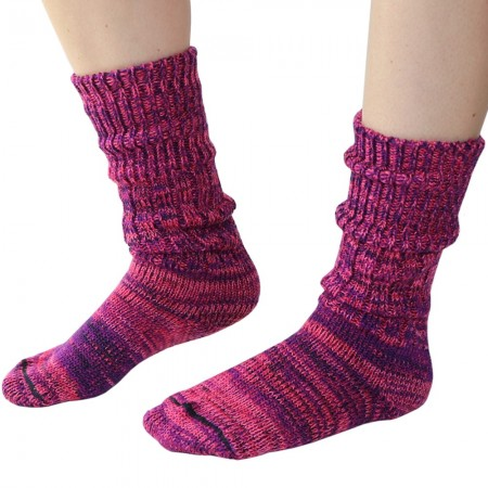 Mongrel Socks Pure Merino Wool Socks - Mulberry