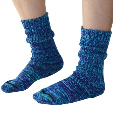 Mongrel Socks Pure Merino Wool Socks - Blue Green