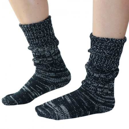 Mongrel Socks Pure Merino Wool Socks - Black & White