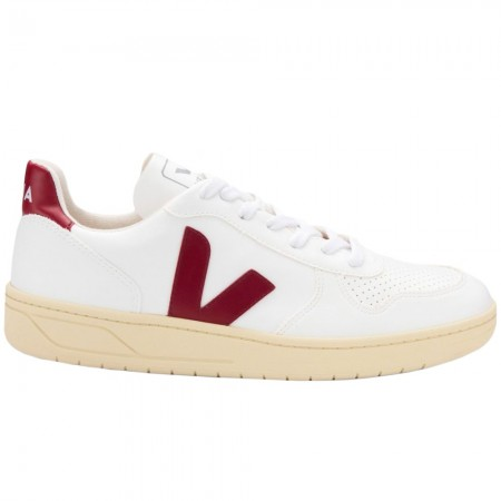 VEJA Women V-10 CWL Butter Sole Sneakers - White Marsala