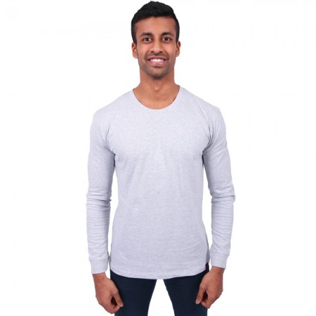 Etiko Organic Cotton Unisex Long Sleeve Tee - Grey Marle