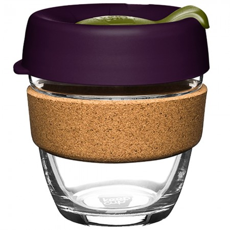 KeepCup Small Glass Cup Cork Band 8oz (227ml) - Pistachio