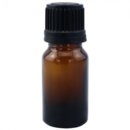 Amber Glass Bottle with Black Dripolator 10ml