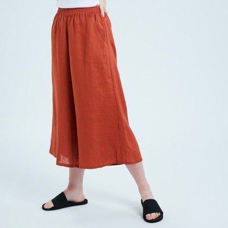 Theo The Label Womens Culotte- Rust