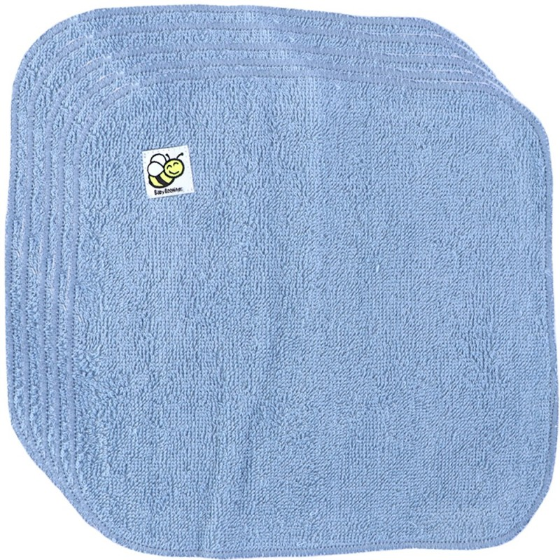 Baby Beehinds Organic Cotton Cloth Wipes - 5 Pack Ice Blue