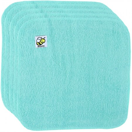 Baby Beehinds Organic Cotton Cloth Wipes - 5 Pack Aquamarine
