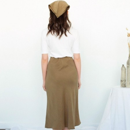 Form By T Peggy Bias Skirt - Olive