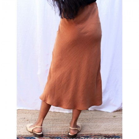 Form By T Peggy Bias Skirt - Tobacco