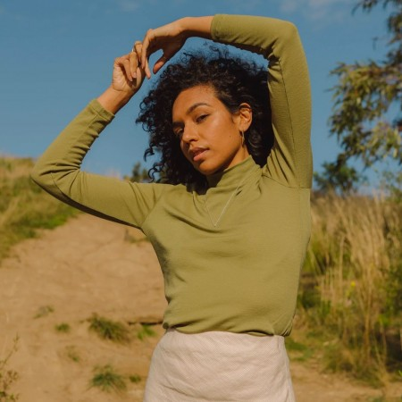 Form By T Marlee Merino Skivvy - Olive