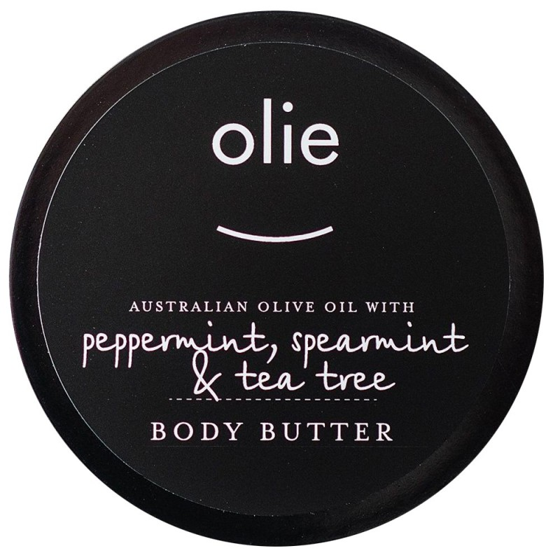 Olieve & Olie Body Butter 100ml - Peppermint, Spearmint & Tea Tree