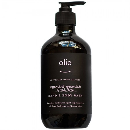 Olieve & Olie Hand & Body Wash 500ml - Peppermint, Spearmint & Tea Tree