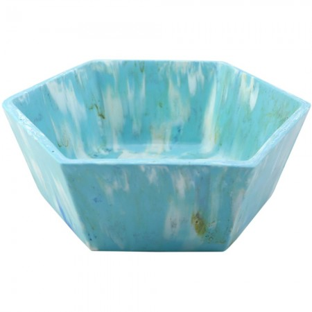 Transmutation Recycled Bread Tag Bowl - Baby Blue