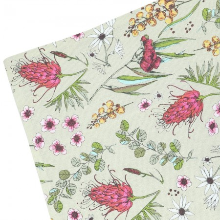 The Linen Press Organic Cotton Tea Towel - Native Floral