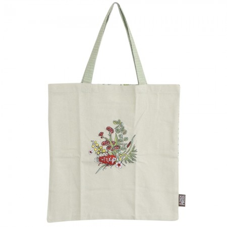 The Linen Press Organic Cotton Shopper Bag - Native Floral