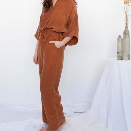 Form By T Elysia Pants - Tobacco