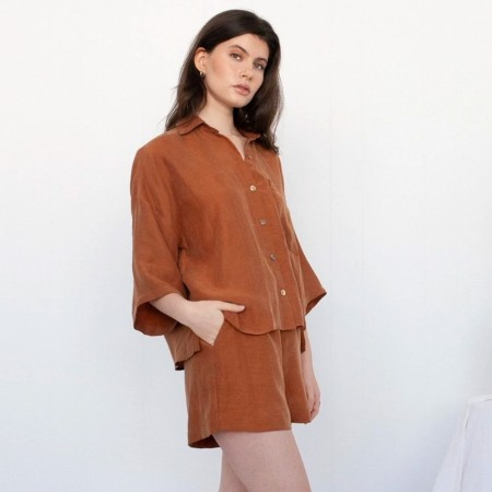 Form By T Jenzel Shorts - Tobacco