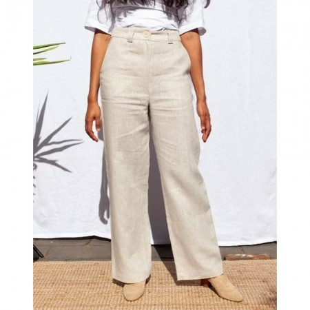 Form By T Jordan Linen Pants - Oat