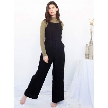 Form By T Rosalie Linen Jumpsuit - Black