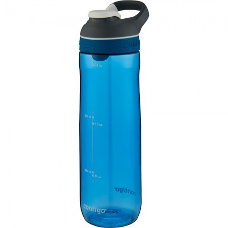 Contigo Autoseal Cortland Plastic Water Bottle 709ml Monaco Blue