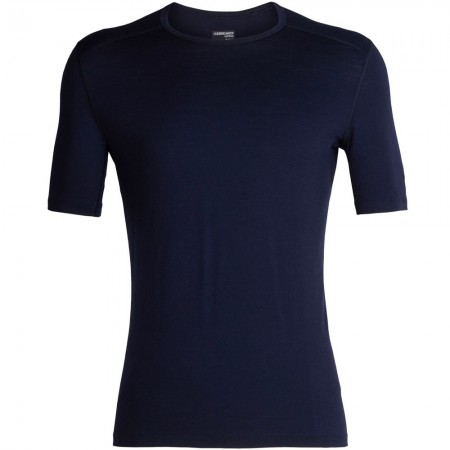 Icebreaker Mens 200 Oasis Short Sleeve Crewe Thermal - Midnight Navy