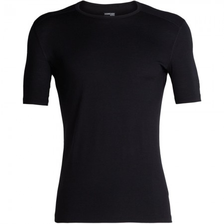Icebreaker Mens 200 Oasis Short Sleeve Crewe Thermal - Black