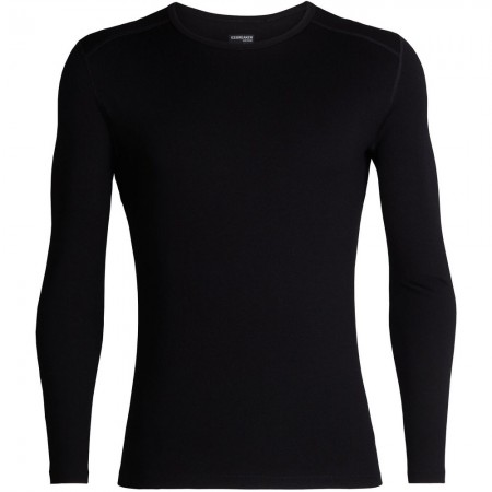 Icebreaker Mens 260 Tech Long Sleeve Crewe Thermal - Black