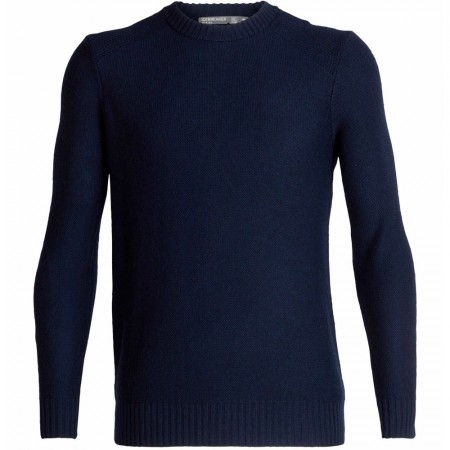 Icebreaker Mens Waypoint Crewe Sweater - Midnight Navy