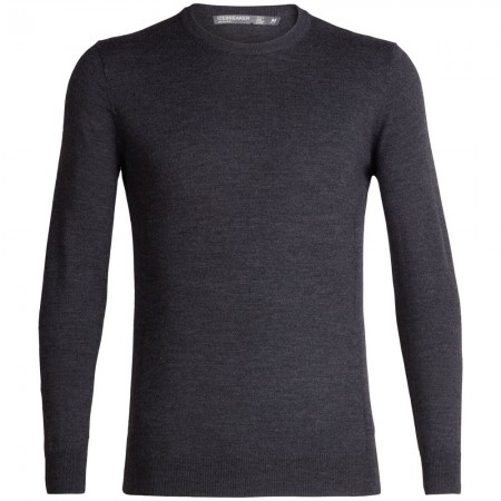 Icebreaker Mens Shearer Crewe Sweater - Charcoal Heather