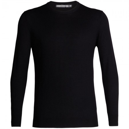 Icebreaker Mens Shearer Crewe Sweater - Black