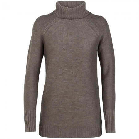 Icebreaker Waypoint Roll Neck Sweater - Toast Heather
