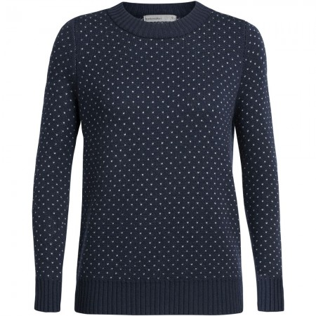 Icebreaker Waypoint Crewe Sweater - Midnight Navy