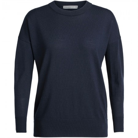 Icebreaker Shearer Crewe Sweater - Midnight Navy