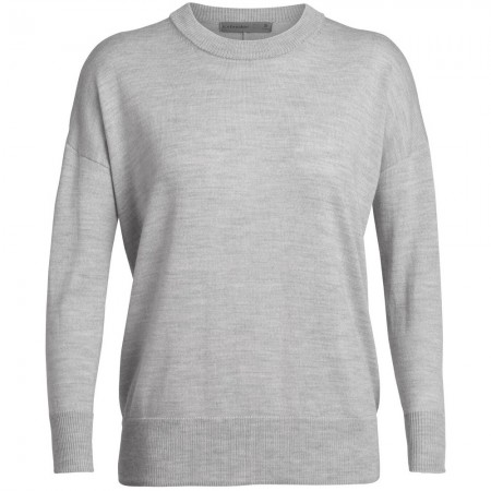Icebreaker Shearer Crewe Sweater - Steele Heather