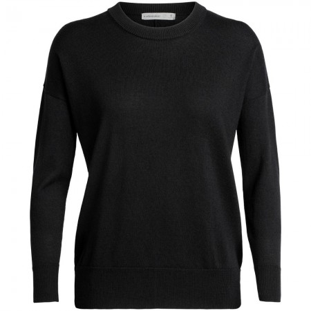 Icebreaker Shearer Crewe Sweater - Black